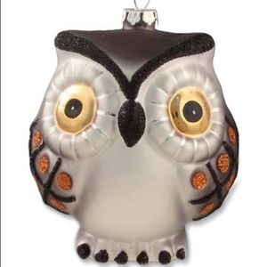 Bethany Lowe glass owl ornament Halloween / autumn